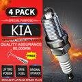 4pcs Spark Plug Gloeibougies Iraurita Platina voor KIA sportage R (2010-2018) 2.0L 2.4L Dual Iridium