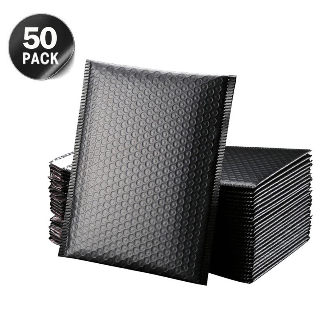 50 шт./лот, конверты из черной пены, самозакрывающиеся конверты, мягкие конверты для доставки с пузырчатым почтовым мешком, пакеты для достав...