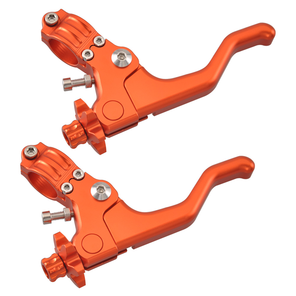 Motorcycle Short Stunt Handle Lever Clutch Brake Lever Orange For Harley XG750 Suzuki GSX Honda CB500 Yamaha YZF Triumph Tiger