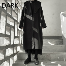 Woolen Coat Yamamoto Autumn Winter Mid-Length And Brushed Homemade Yoji Fleece Dark-Wind