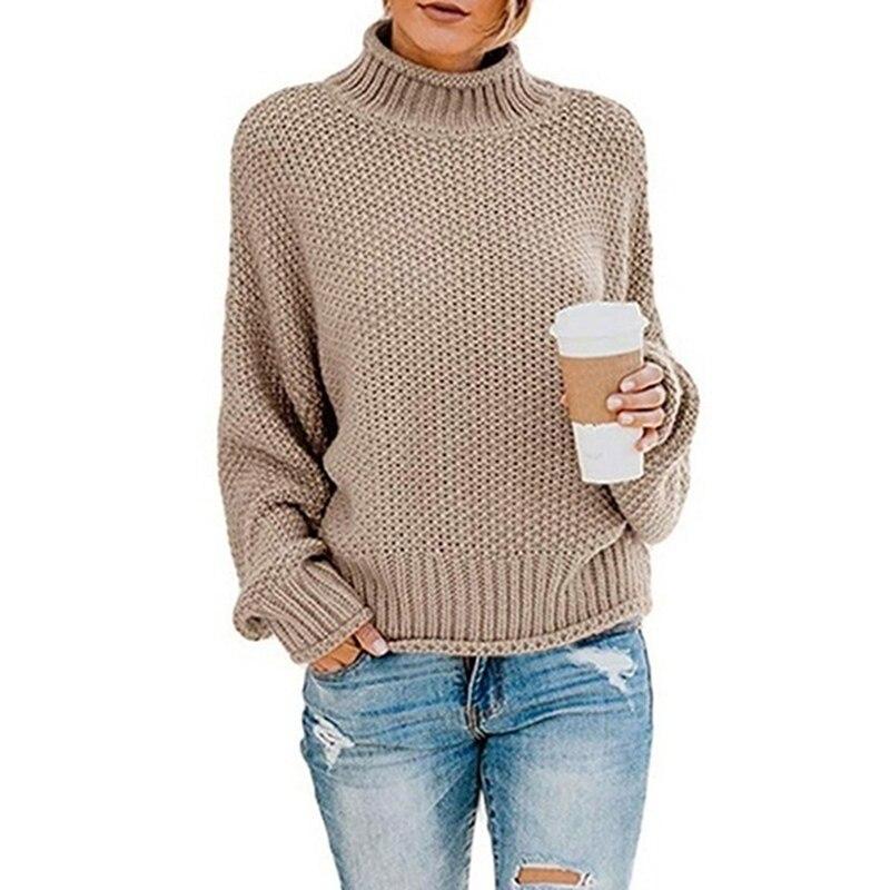 """Осень-зима Для женщин свитера и пуловеры с длинным рукавом """"летучая мышь"""" свитер для повседневной носки средней длины свободный свитер с"""