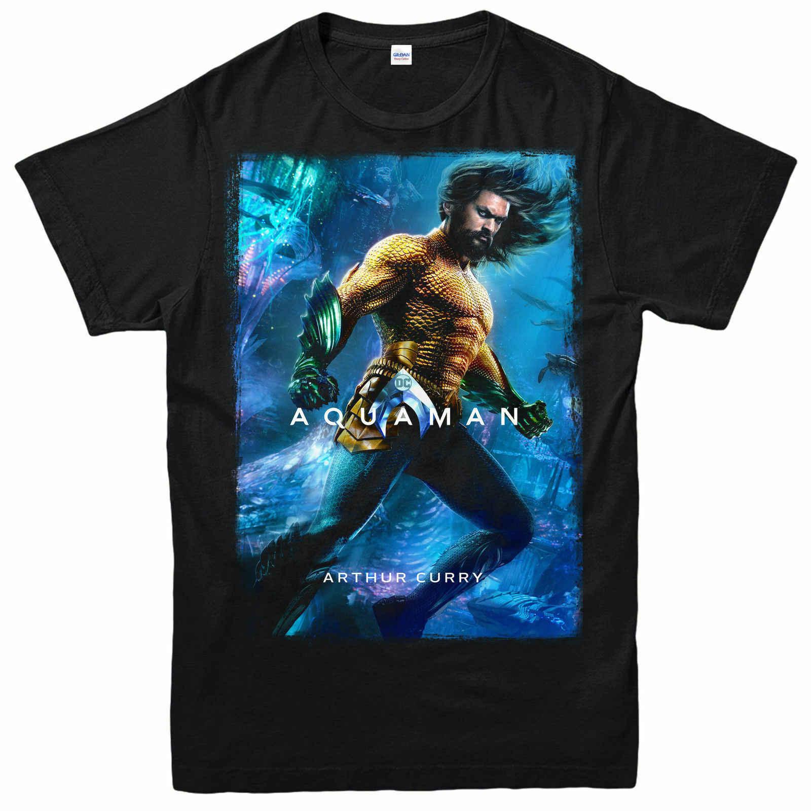Aquaman T-Shirt Arthur Curry, Cinema, Quadrinhos, Ficção Adulta & Kids Tee Topo