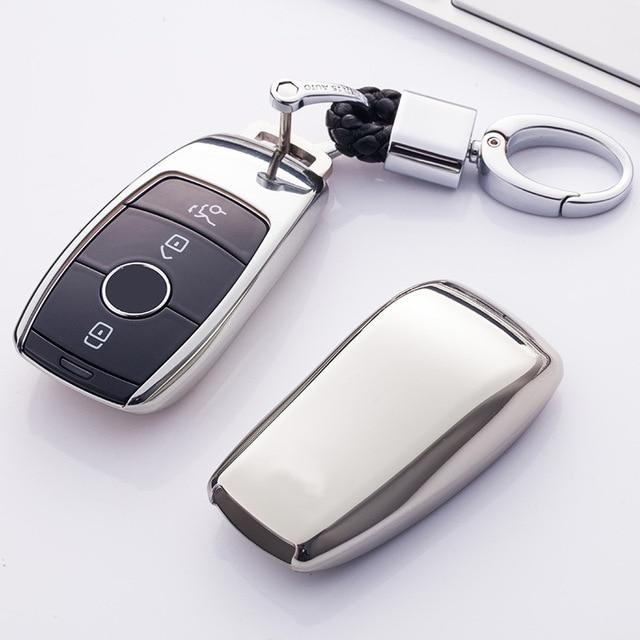 TPU araba anahtar kapağı kılıfı kabuk çanta koruyucu yumuşak Mercedes Benz 2017 için E sınıfı W213 2018 S sınıfı aksesuarları araba styling