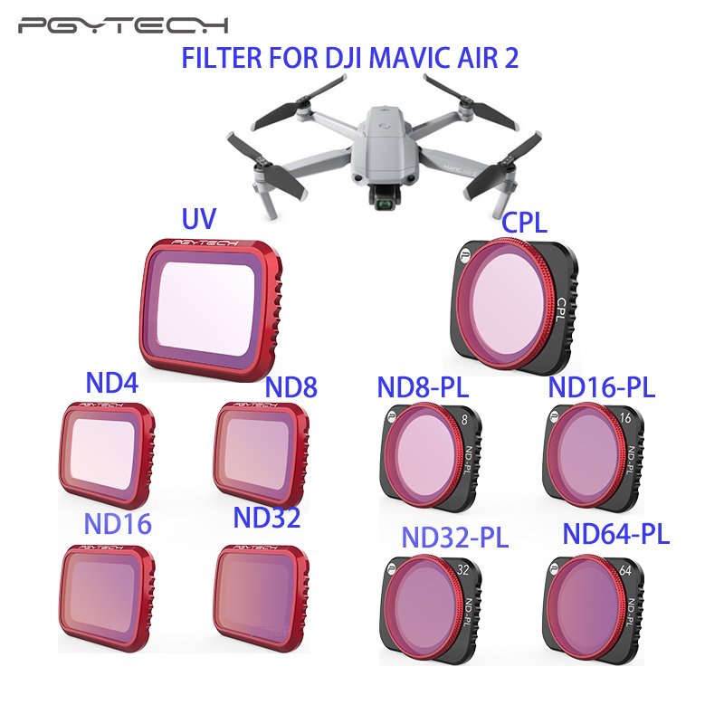 Professional UV CPL Filter ND8 ND16 ND32 ND64 ND-PL Filter Kit Optical Glass Lens Filter For DJI Mavic Air 2 Drone Accessories