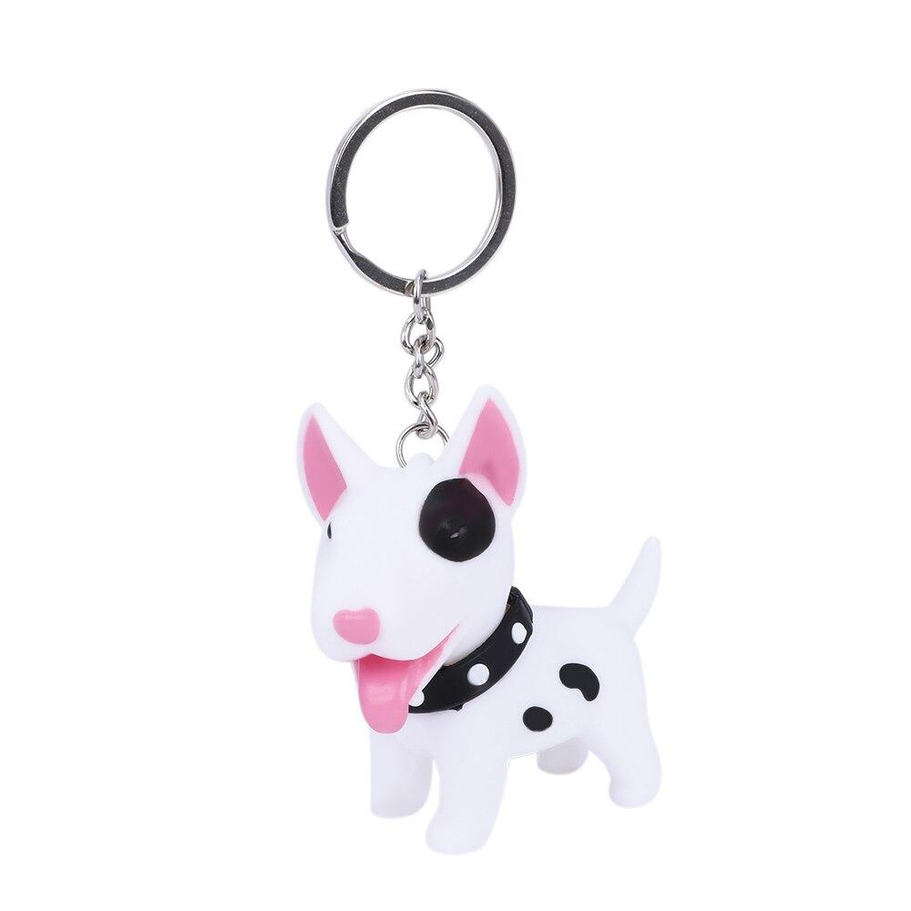 Cute Dog keychain figure Anneau porte-Shiba PVC poupée jouets Clé Inu Bull Terrier