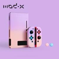 Modx para nintendo nintend switch caso ns nx console protetor caso duro escudo para nintendos interruptor alegria com colorido capa traseira
