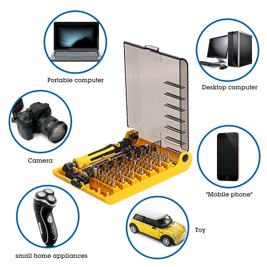 Precisión 45 en 1 Juego de destornilladores de mano magnéticos Torx - Herramientas manuales - foto 6