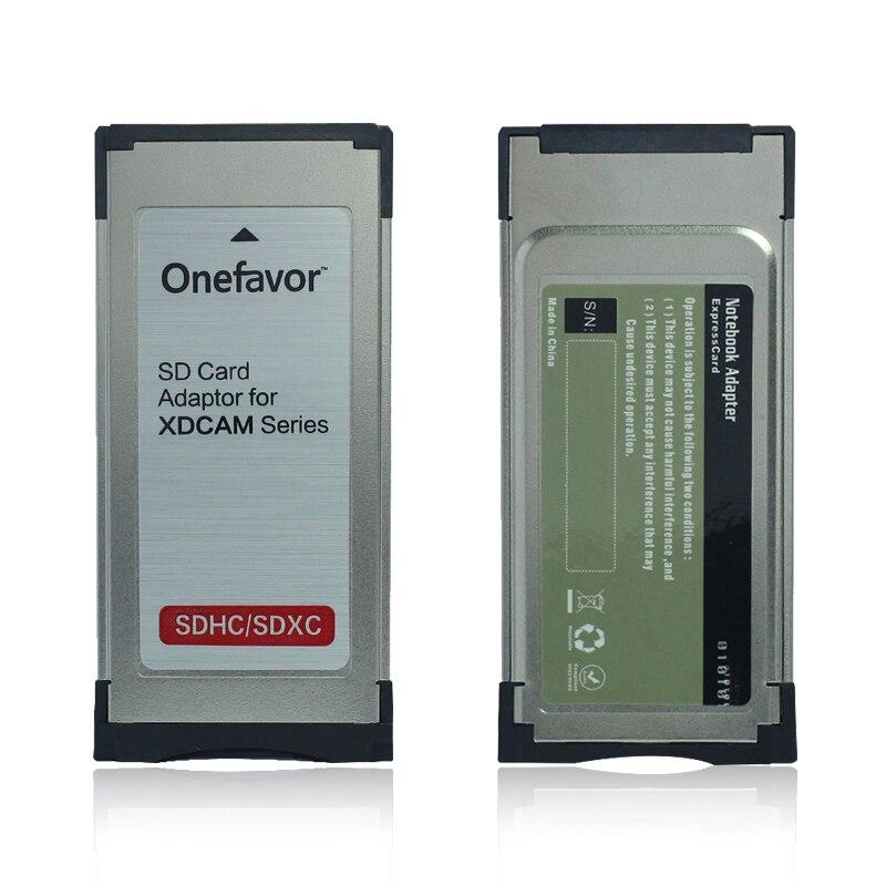 SD SDHC SDXC Card Adaptor For XDCAM Series Camera Into Express Card SXS Card Adapter