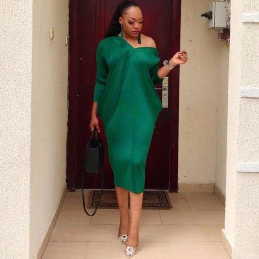 African Dresses For Women 2019 Elegent Fashion Style Long Sleeve African Women Midi Dress