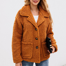 Faux Lambswool Autumn Winter Women Jacket Coat Hairy Zipper Pocket Loose Plus Size Womens Jackets And Coats Outerwear Coat 2019 цены онлайн