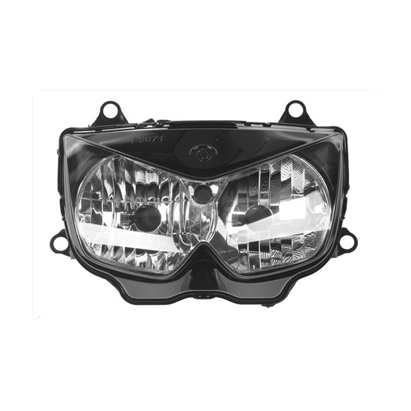 Pour 03-06 Kawasaki Z1000 2003 2004 2005 2006 clair lentille moto moto phare phare phare lampe Kit d'assemblage de phare - 2