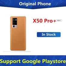 Nowy Vivo X50 Pro + X50 Pro Plus 5G telefon z systemem Android ekran linii papilarnych Dual Sim Snapdragon 865 44W ładowarka 50.0MP 6.56