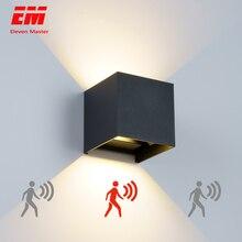 Светодиодный светильник настенный IP65 7 W Водонепроницаемый для наружного и внутреннего освещения светодиодный настенный светильник Современный Алюминий регулируемый угол AC90~ 260 V крыльцо свет ZBW0002