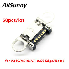AliSunny 50pcs מיקרו USB נמל עבור SamSung Galaxy A310F A510 A710 S6 קצה Note5 טעינת שקע מחבר Dock Plug