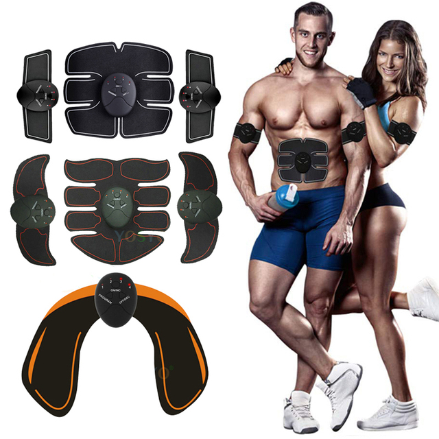 EMS muscle stimulator trainer Fitness smart Abdominal training electric weight loss stickers body slimming belt unisex 1