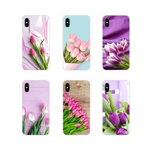 pink Tulips flower For Motorola Moto X4 E4 E5 G5 G5S G6 Z Z2 Z3 G G2 G3 C Play Plus Accessories Phone Cases Covers(China)