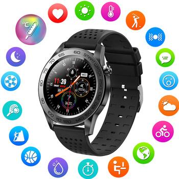 F22U Bluetooth sport inteligentny zegarek mężczyźni GPS opaska monitorująca aktywność fizyczną w pełni dotykowy inteligentna bransoletka kobieta temperatura Smartwatch Android IOS tanie i dobre opinie ZROD CN (pochodzenie) Brak Na nadgarstek Zgodna ze wszystkimi 128 MB Krokomierz Rejestrator snu Wiadomości z przypomnieniami