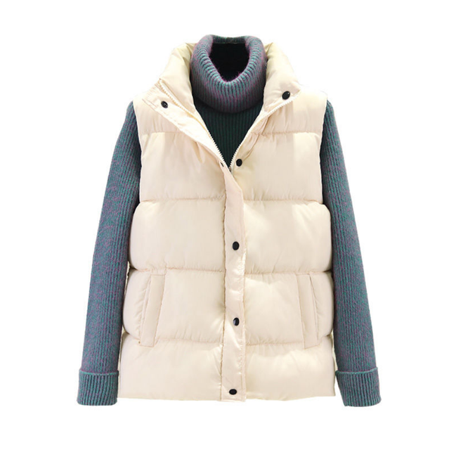 Tanming Womens Winter Cotton Padded Long Vest Coat Outerwear with Hood Pockets