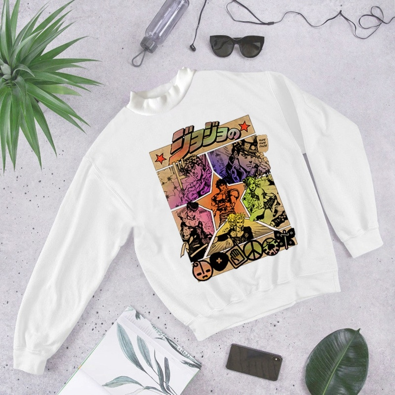 Autumn Woman Clothes Jojo Bizarre Adventure Sweatshirt For Women Oversized Hoodie Casual Hoodies Anime WomenHoodies With Hood