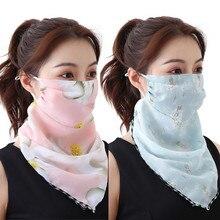 Sagace Summer Scarf 2020 2 Pack Women Sun Mask Chiffon Neck Gaiter Sun Proof Face Multi-use Mask Outdoors Шапка Зимняя Женская