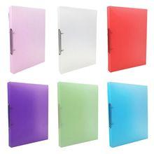 Organizer File-Folder Binder-Storage A4 Clip Office-Supply Leaf Candy-Color Transparent