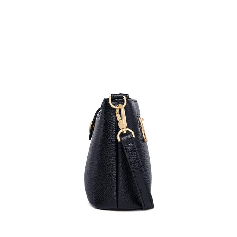 ZOOLER Heart Shape Hardware Genuine Leather Bag Fashion High Quality Female Shoulder bag Luxry Brand Black Crossboy Bag#WG303