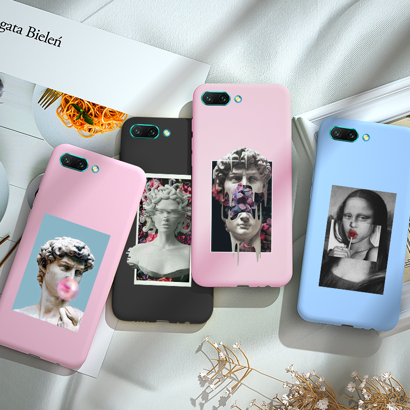 Soft Silicone Case For Huawei Y5 Y6 Y7 2019 Y9 Prime Lite 2018 2019 Mate 10 20 Lite Pro Cases Candy Color Cover