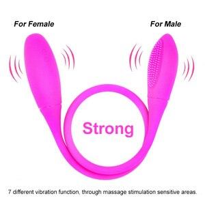 Rechargeable Dual Vibrator 7 Speeds Double Head Jump Egg Bullet Dildo Vibrator Anal Butt Plug Adult Sex Toy For Couple Men Women