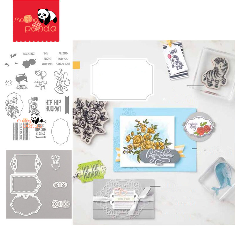 MP125 CELEBRATION OF TAGS Metal Cutting Dies And Stamps For Craft Scrapbooking Embossing Stencil DIY Die Cut Card Decoration