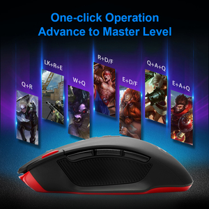 Image 5 - Redragon SHARK M688 Wireless Gaming Mouse programmable 5000 DPI 10 buttons ergonomic for overwatch gamer Mice laptop PC computer
