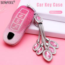 Car Key Case Cover For Porsche Panamera Macan Cayenne Carrera Boxster Cayman 911 955 996 970 981 991 918 Car Styling Accessories