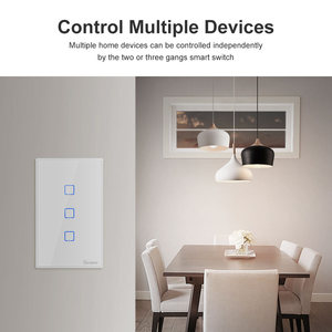 Image 4 - Itead Sonoff T0US 120 Size 1/2/3 gang TX Wall Switches Remote Controlled Wifi Switch With Border Works With Alexa Google Home