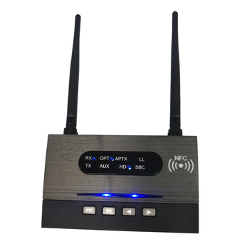 NFC 80m Long Range Bluetooth 5.0 Transmitter Receiver 3in1 Music Audio Adapter Low Latency aptX HD Spdif RCA AUX 3.5mm TV