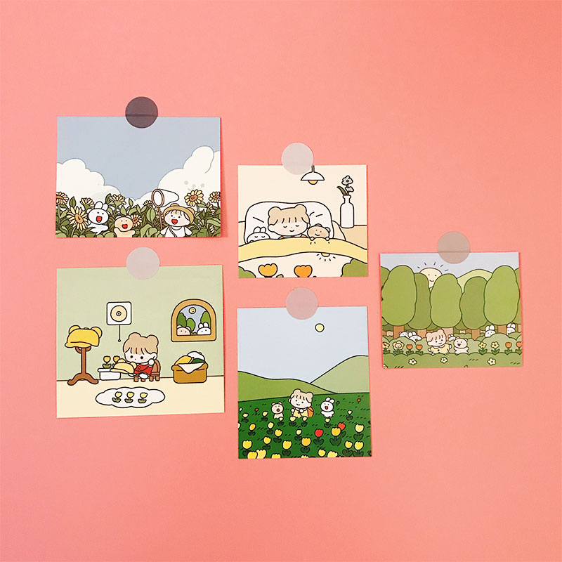 5Pcs/Pack Korean Style Girl Photo Frame Sticker DIY Craft Scrapbooking Album Junk Journal Happy Planner Decorative Stickers
