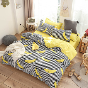 Image 5 - Cute bed linens peach print Home textile bedding luxury fruit duvet cover set sheet bedclothes 3/4pcs girls gift queen king size