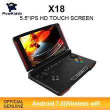 Powkiddy consola de juegos portátil X18, Android, pantalla de 5,5 pulgadas 1280*720 MTK 8163, Quad Core, 2G RAM, 32G ROM, vídeo, Mando de juegos