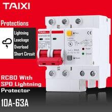 SPD zabezpieczenie przeciwprzepięciowe piorunochron 2 polak DZ47LE wyłączniki RCBO wyłącznik różnicowoprądowy RCD MCB 16A 20A 25A 32A 40A 50A 63A DZ47LED