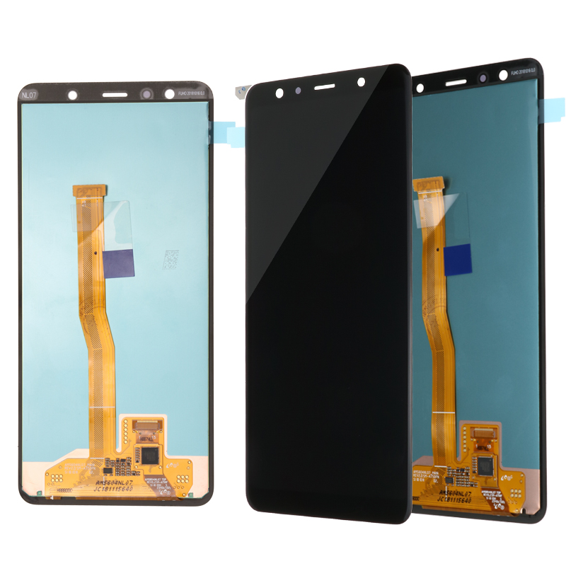 Super Part For <font><b>Samsung</b></font> Galaxy A750F <font><b>A750</b></font> <font><b>LCD</b></font> With Screen Touch Assembly SM-A750F 6.0'' A7 2018 For Replacement Display image