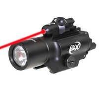 Linterna LED Hungting SF X400 X400U, luz táctica para arma, luz para pistola de mano con láser rojo para pistola para Rifle de caza