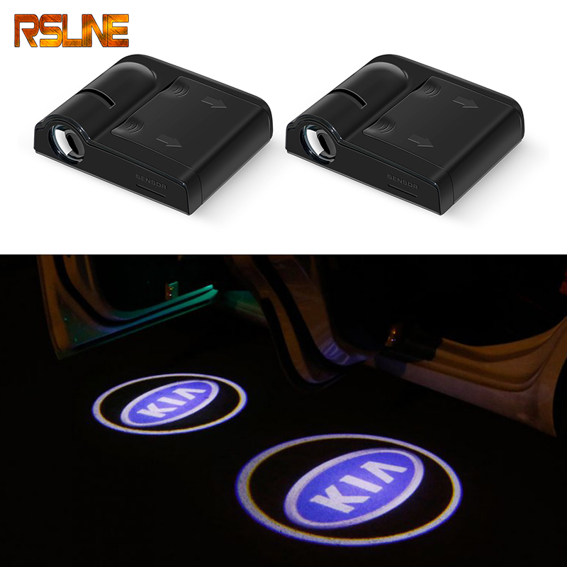 2pcs Wireless Car Door Welcome Light LED Laser Projector For KIA Sid Rio Soul Sportage Ceed Sorento Cerato K2 K3 K4 K5 Styling