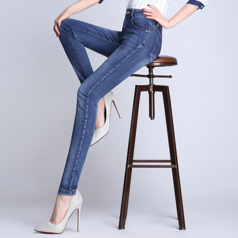 Women's Spring And Autumn High Waist Jeans Korean-style Tight Elasticity Skinny Pants Slimming Versatile Slim Fit Trousers 2018