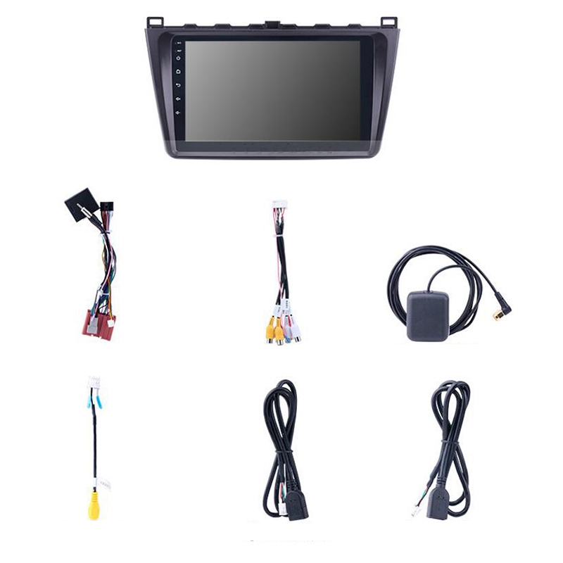 9 inch 2Din WIFI <font><b>GPS</b></font> <font><b>Navigation</b></font> Car Radio Android 8.1 Multimedia Player for 2008- 2015 <font><b>Mazda</b></font> <font><b>6</b></font> Rui Wing image