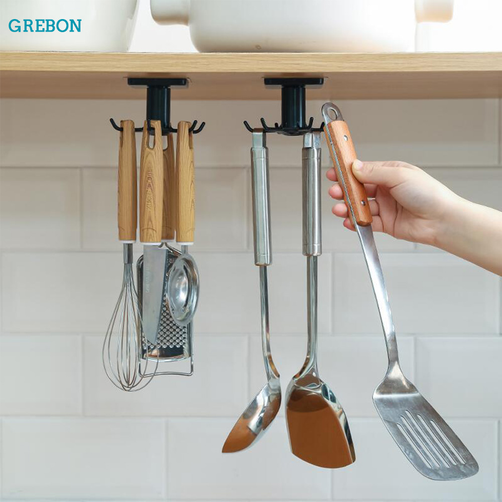 kitchen hook organizer bathroom hanger wall dish drying rack holder for lid cooking accessories Cupboard storage Cabinet shelf