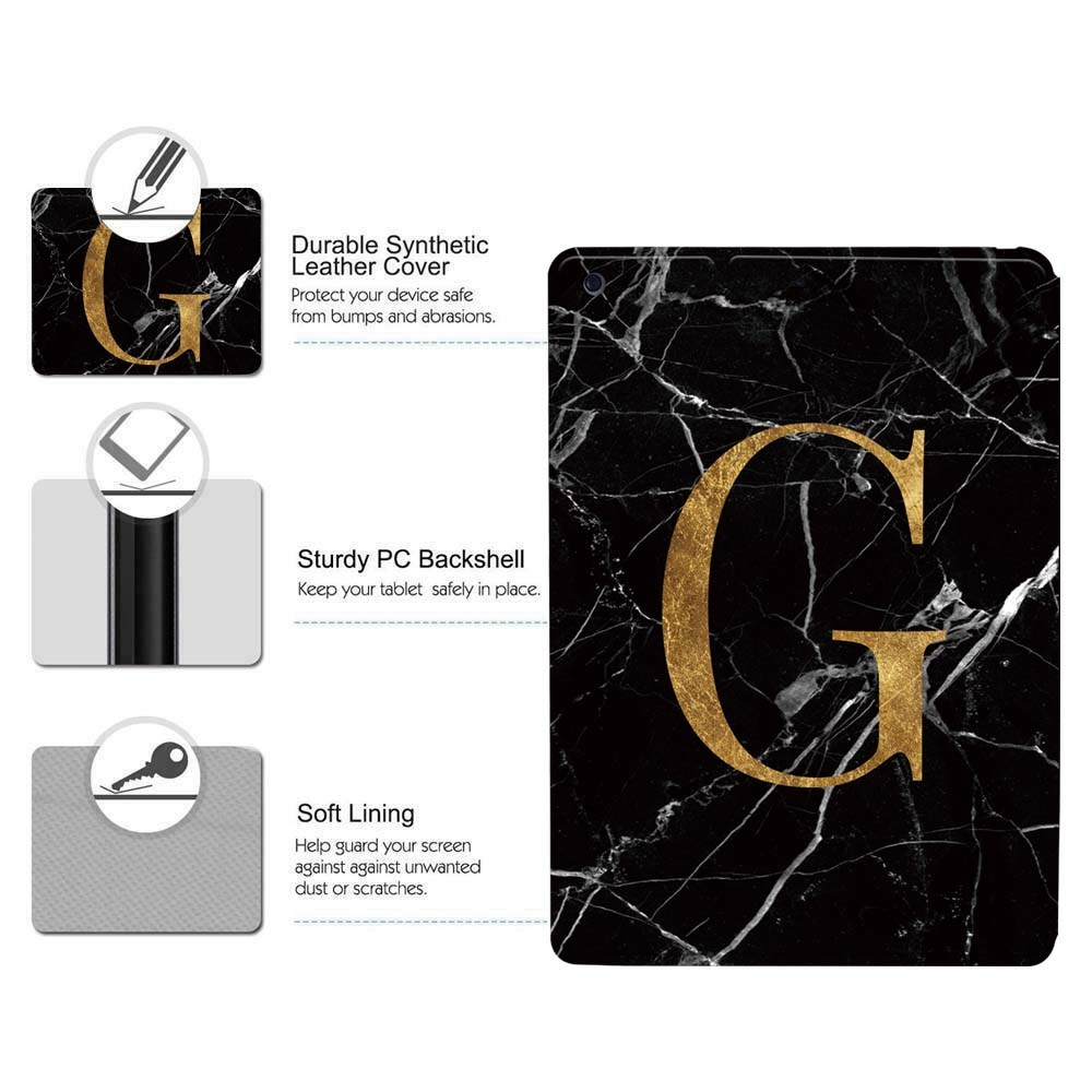 letters Generation) 8 PU A2428 initia (8th A2429-Printing For 8 iPad Apple 10.2