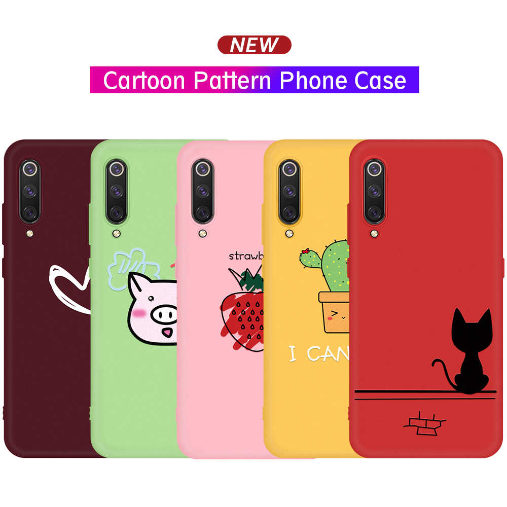 Phone Shell For Xiaomi Mi 9 SE 9T Pro 8 Lite Girl Candy Color TPU Case For Xiaomi CC9 CC9E Mi A3 Lite A2 Mi9T Soft Silicon Cover