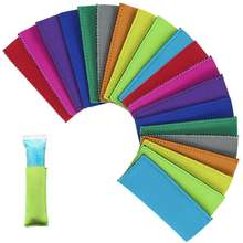 Цветные пакеты для мороженого на палочке 10 шт неопреновые защитные
