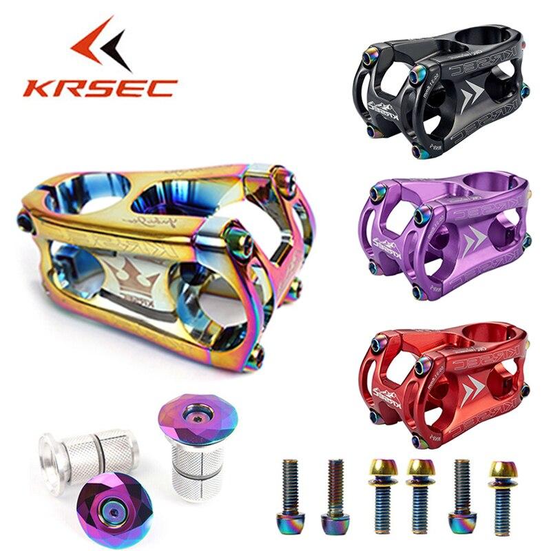 KRSEC 31.8mm MTB bike stem Ultralight Aluminum Downhill Bicycle Handlebar Stem 1-1/8
