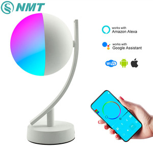 Image 1 - Wifi Smart Table Lamp RGBW 7W Dimmable Control Timer Switch Alexa Google home Voice Control LED Desktop Night Light Smart life
