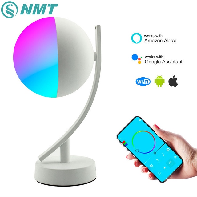 Wifi Smart Table Lamp RGBW 7W Dimmable Control Timer Switch Alexa Google home Voice Control LED Desktop Night Light Smart life