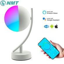 Wifi Smart Tisch Lampe RGBW 7W Dimmbare Control Timer Schalter Alexa Google startseite Voice Control LED Desktop Nacht Licht smart leben